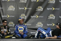 Aric Almirola, Michael Waltrip and Kyle Petty