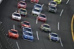 Tony Stewart and Ryan Newman battle for the lead
