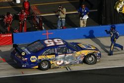 Michael Waltrip goes to the garage