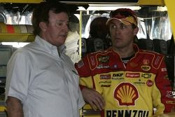 Kevin Harvick with team owner Richard Childress
