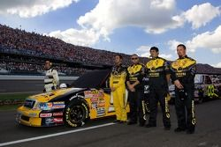 Erik Darnell and crew are lined up on pit road during the National Anthem