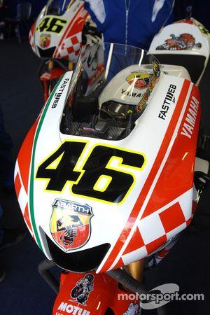 Detalle de la M1 de Valentino Rossi Abarth