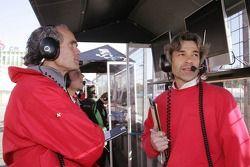 Max Welti et James Robinson, ingénieur de course