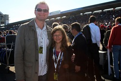 Oliver Schloemer and his daugther Vanessa on the grid
