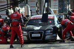 Pit stop for Christian Abt, Audi Sport Team Phoenix, Audi A4 DTM