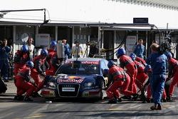 Pit stop for Mattias Ekström, Audi Sport Team Abt Sportsline, Audi A4 DTM