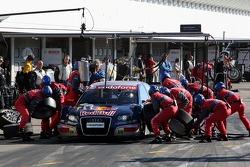 Pit stop para Mattias Ekström, Audi Sport Team Abt Sportsline, Audi A4 DTM