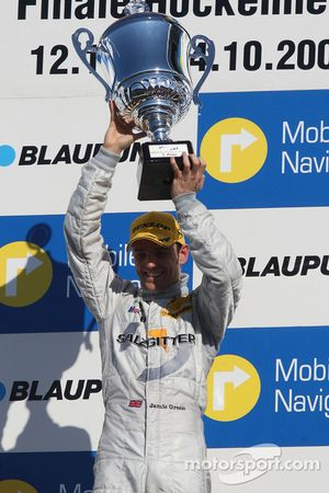Podium: race winner Jamie Green celebrates