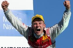 Championship podium: 2007 DTM champion Mattias Ekström