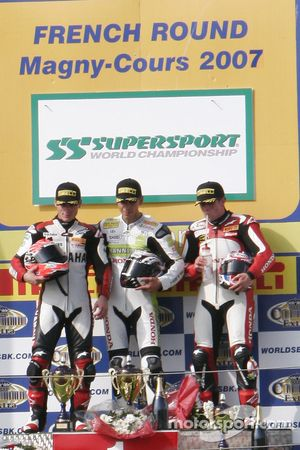 Supersport race podium