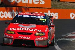 Jamie Whincup behind the wheel of the 888 car