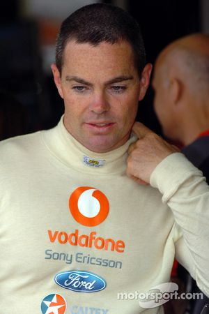 A disappointed Craig Lowndes