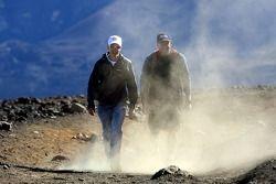 Sebastian Vettel, Scuderia Toro Rosso Hawai (Haleakala National Park) ve Trainer Scott Sanchez