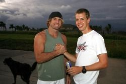 Sebastian Vettel, Scuderia Toro Rosso in Hawai (Haleakala National Park) meets surf legend Robby Naish
