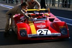 Pushed to a deserved rest: Ferrari 312 PB 1972