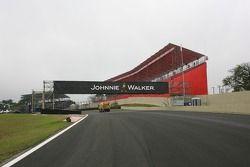 Marche sur le circuit d'Interlagos