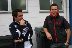 Timo Glock, Test Pilotu, BMW Sauber F1 Team ve Christian Klien, Test Pilotu, Honda Racing F1 Team