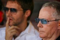 David Robertson et Steve Robertson, managers de Kimi Raikkonen, Scuderia Ferrari