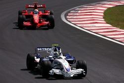Robert Kubica, BMW Sauber F1 Team , Felipe Massa, Scuderia Ferrari