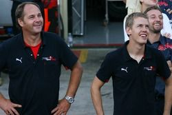 Gerhard Berger, Scuderia Toro Rosso, 50% Team Co Owner ve Sebastian Vettel, Scuderia Toro Rosso