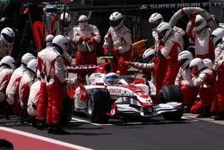 Anthony Davidson, Super Aguri F1 Team pit stop