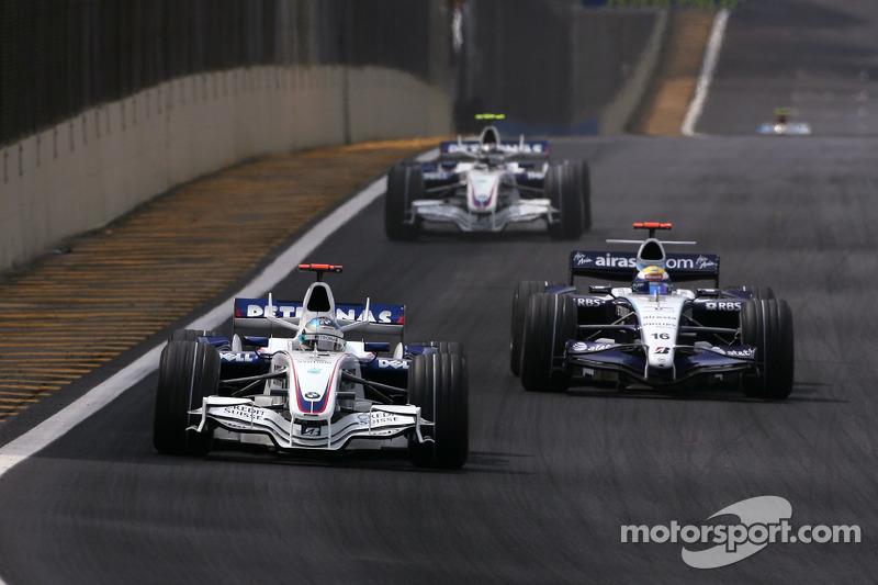 Nick Heidfeld, BMW Sauber F1 Team , Nico Rosberg, WilliamsF1 Team, Robert Kubica, BMW Sauber F1 Tea