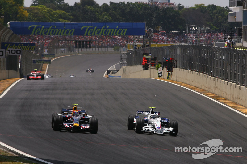 Mark Webber, Red Bull Racing, Robert Kubica, BMW Sauber F1 Team
