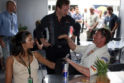David Coulthard, Red Bull Racing and his fiancee Karen Minier and Christian Horner, Red Bull Racing,