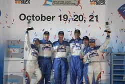 P2 podium: third place Adrian Fernandez and Luis Diaz