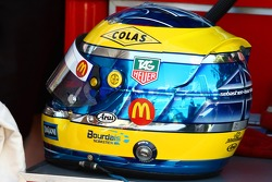 Sébastien Bourdais's helmet (Newman/ Haas/ Lanigan Racing)