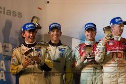 Class winners podium: GT1 winners Oliver Gavin and Olivier Beretta, P1 and overall winners Rinaldo Capello and Allan McNish