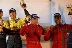 Class winners podium: GT2 winners Mika Salo and Jaime Melo