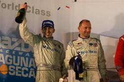 GT2 podium: second place Ralf Kelleners and Tom Milner