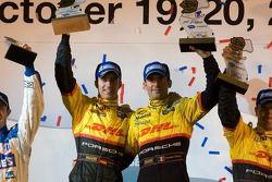 P2 podium: class winners Timo Bernhard and Romain Dumas