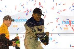 P2 podium: champagne for Adrian Fernandez