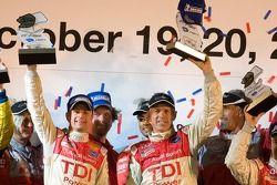 P1 podium: class and overall winners Allan McNish and Rinaldo Capello