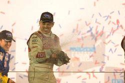 P1 podium: champagne for Rinaldo Capello
