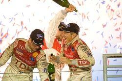 P1 podium: champagne shower for Rinaldo Capello