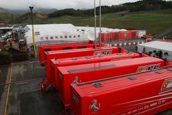 Scuderia Ferrari transporters