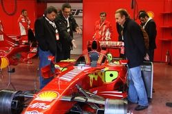 Tony Teixeira of A1GP, Richard Dorfman of A1GP and Emerson Fittipaldi, Seat Holder of A1 Team Brazil