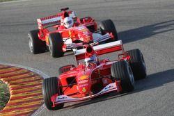 Ferrari F2001 and F2005