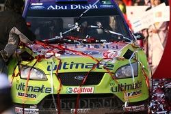 Podium: the winning car