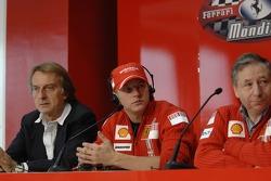 Luca di Montezemolo, Kimi Raikkonen and Jean Todt