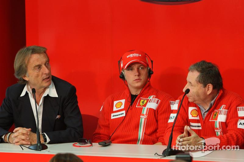 Luca di Montezemolo, Kimi Raikkonen ve Jean Todt