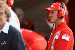 Michael Schumacher y Luca di Montezemolo