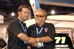 Robby Gordon and Ronn Bailey at SEMA trade show in Las Vegas