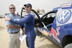 Volkswagen Motorsport Director Kris Nissen and Giniel de Villiers