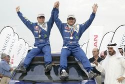 Carlos Sainz and Michel Périn celebrate FIA Cross-Country Rally World Cup 2007