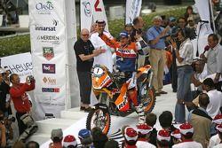 Podium: bikes winner Marc Coma