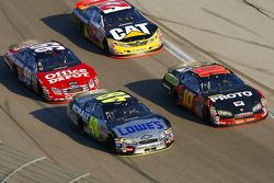 Jimmie Johnson, Scott Riggs, Dave Blaney and Carl Edwards